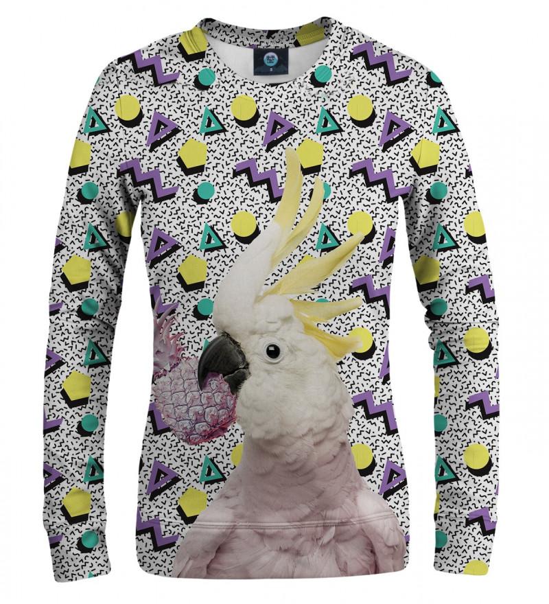 bluza z motywem papugi