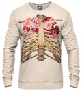 sweatshirt with skeleton chest and roses