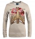 Skeleton chest women sweatshirt
