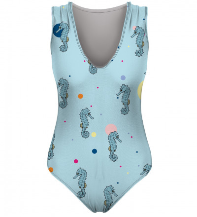 swimsuit with seahorses motive