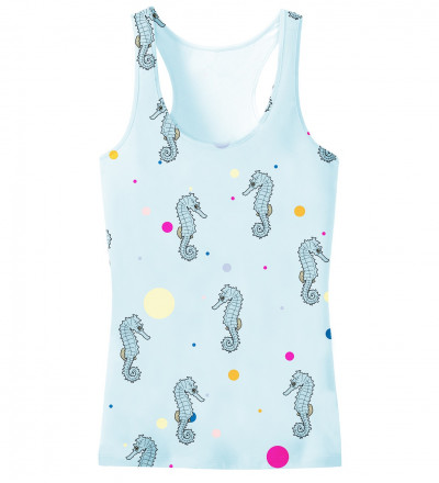 tank top with seahorses motive