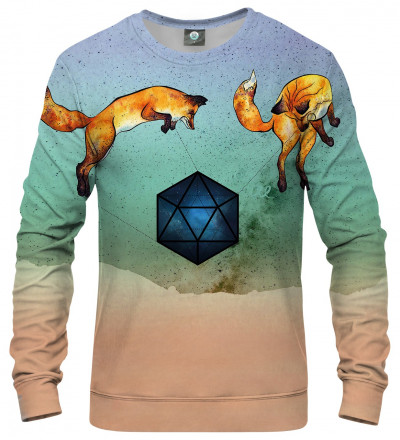sweatshirt with foxes motive