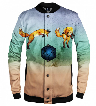 baseball jacket with foxes motive