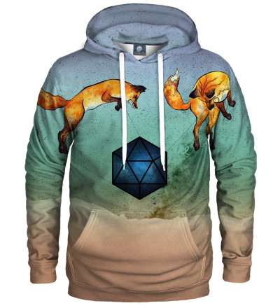 hoodie with foxes motive
