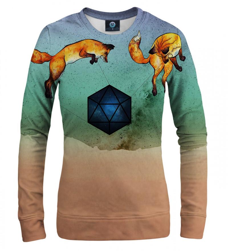 sweatshirt with foxes motive