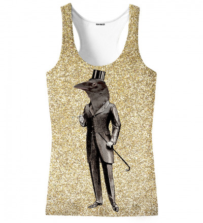 tank top with raven motive