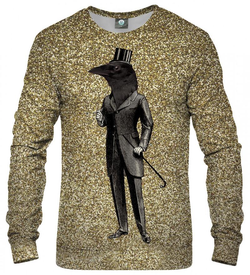 sweatshirt with raven motive