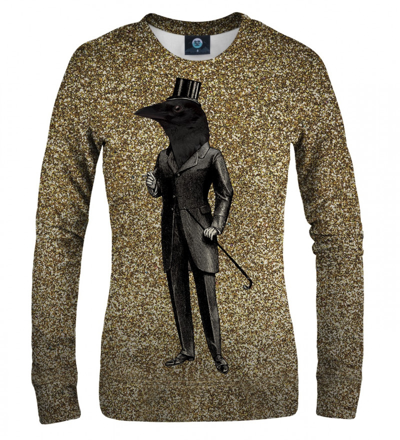 women sweatshirt with raven motive