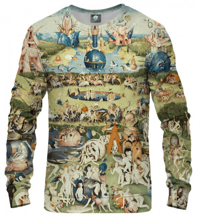 sweatshirt with garden motive, inspo Hieronim Bosch