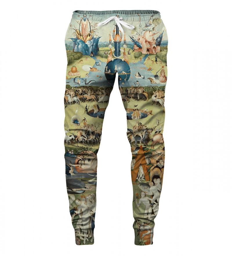 sweatpants with garden motive, inspirations Hieronim Bosch