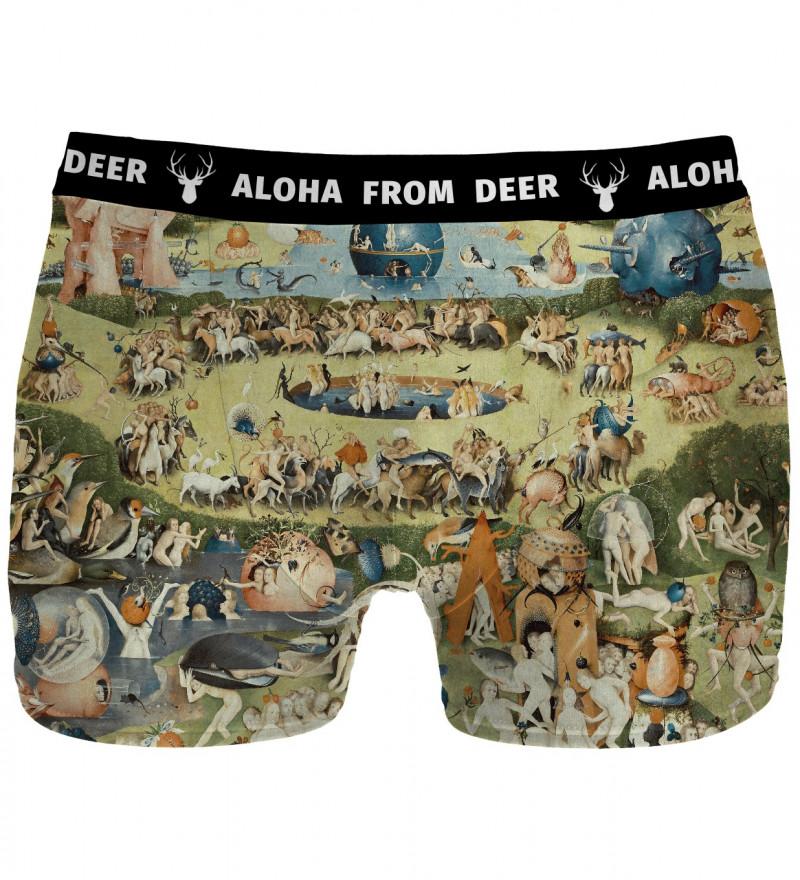 underwear with garden motive, inspirations Hieronim Bosch