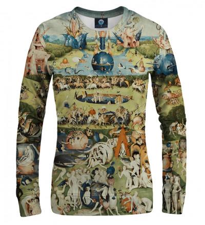 women sweatshirt with garden motive, inspiration Hieronim Bosch