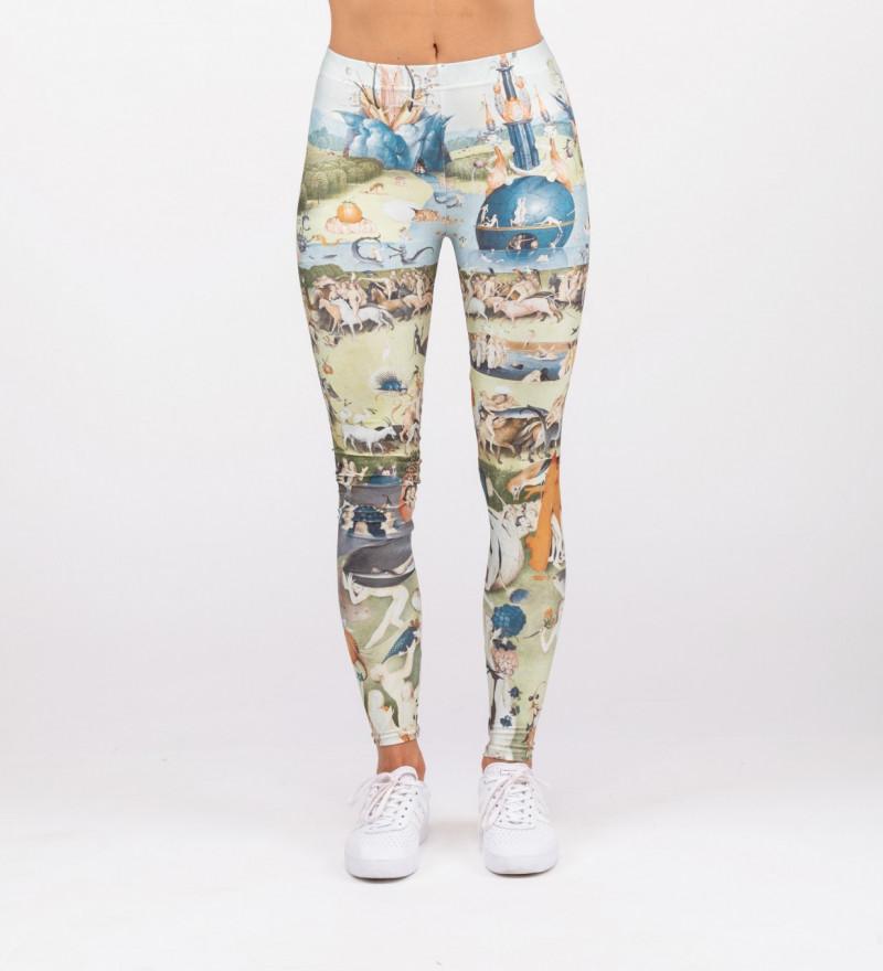 leggings with garden motive, inspiration Hieronim Bosch