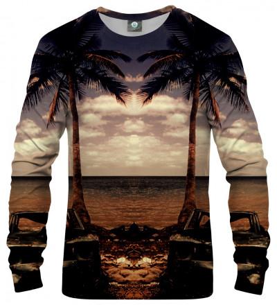 sweatshirt with beach and palm trees