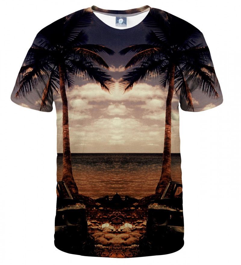 tshirt with palmtrees and beach motive