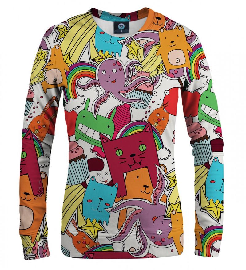 damska bluza z motywem zabawnych potworków