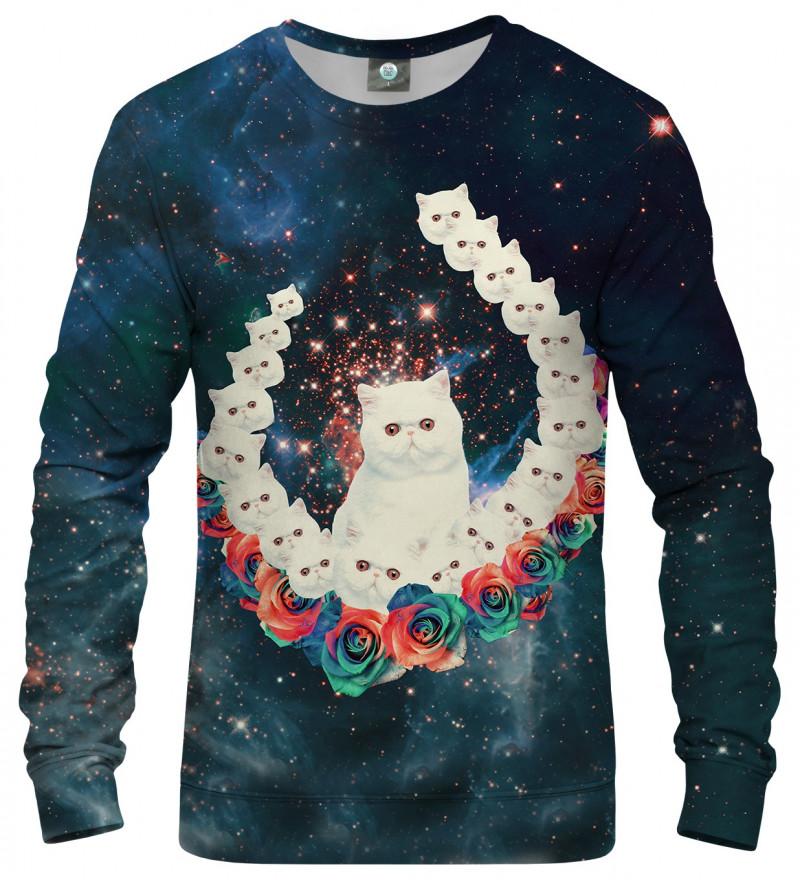 sweatshirt with cat and galaxy motive