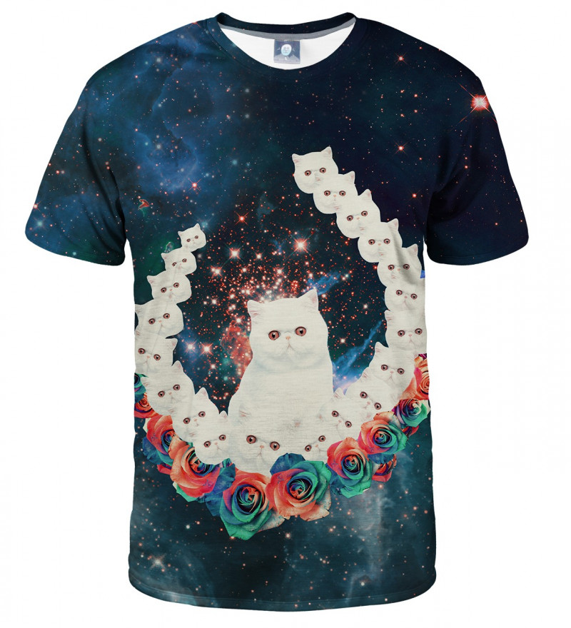 tshirt with cat and galaxy motive