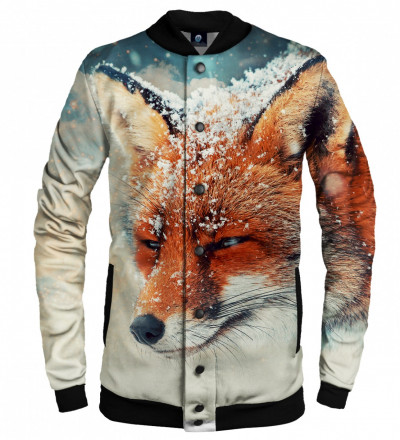 baseball jacket with fox motive