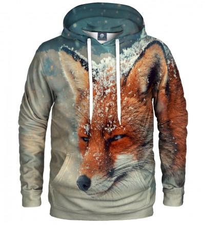 bluza z kapturem z motywem lisa