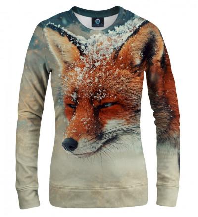 women sweatshirt with fox motive