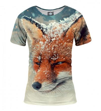 women tshirt with fox motive
