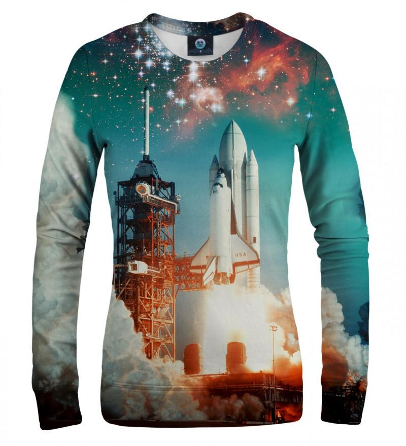 bluza z motywem rakiety kosmicznej