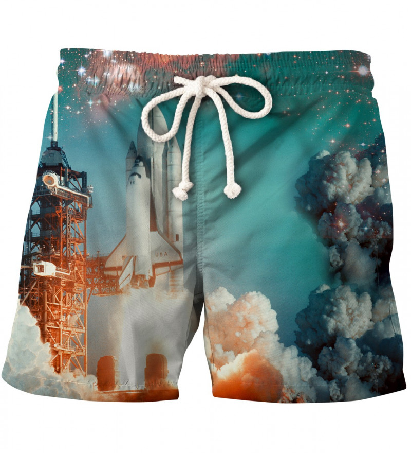 shorts with space rocket motive