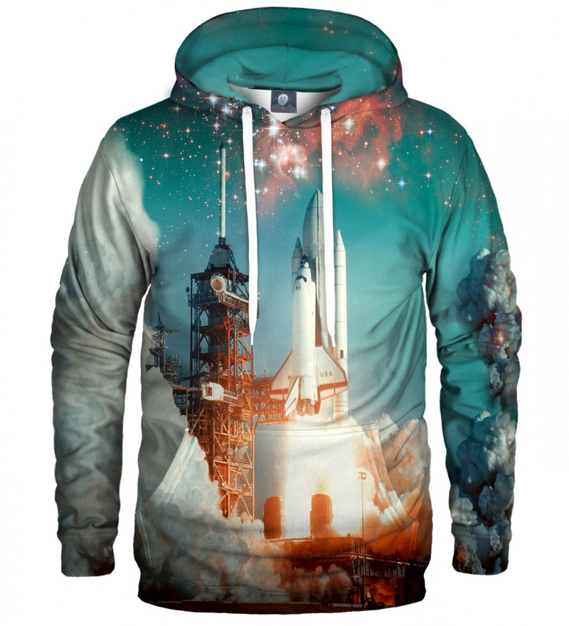 hoodie with space rocket motive