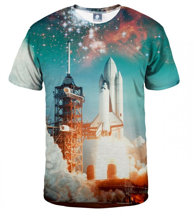 koszulka z motywem rakiety kosmicznej
