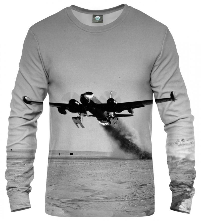 sweatshirt with airplane motive