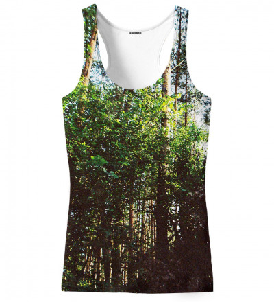 tank top with forest motive