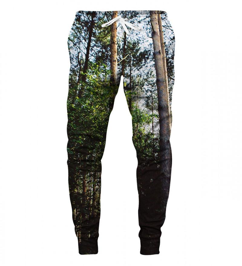 spodnie z motywem lasu