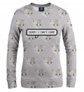 I can't care women sweatshirt