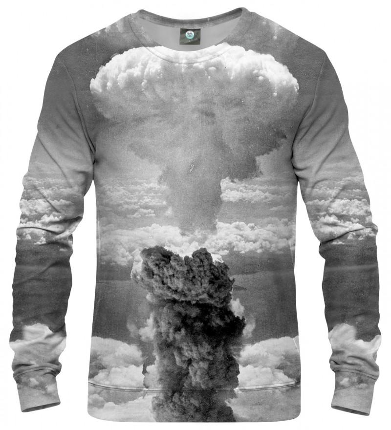 grey sweatshirt with explosion motive