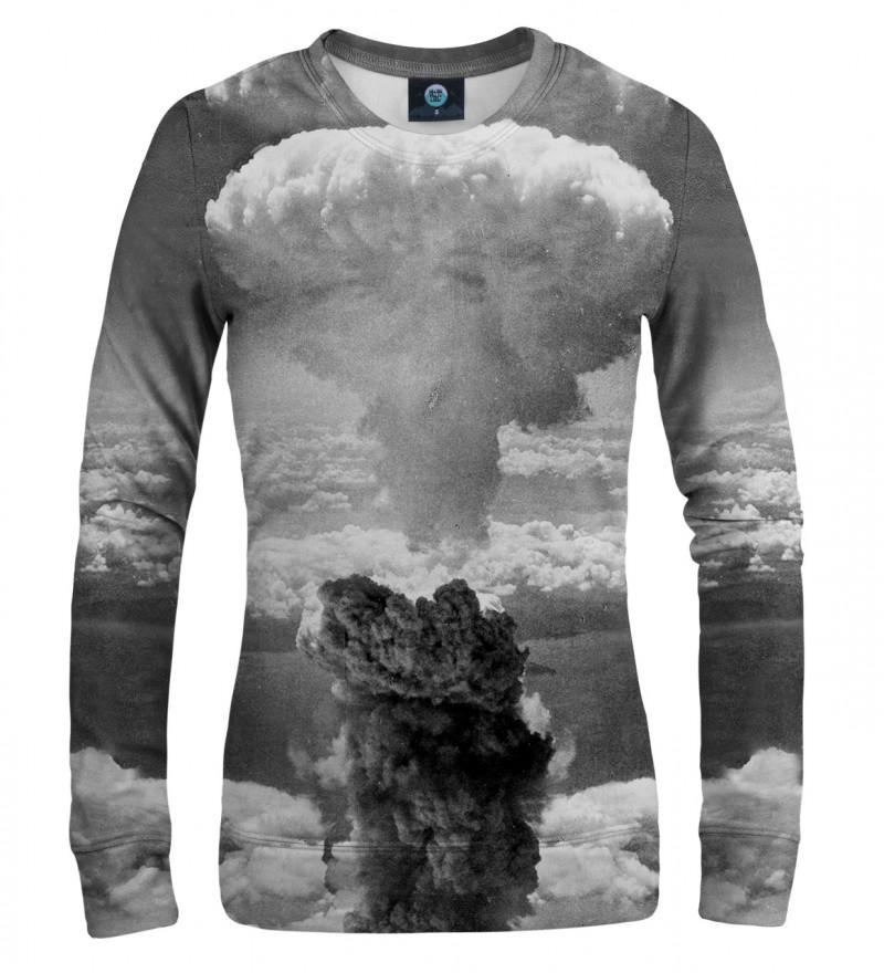 szara bluza z motywem wybuchu