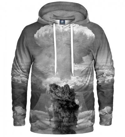 grey hoodie with explosion motive
