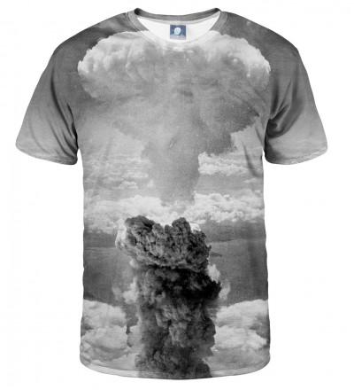 szara koszulka z motwem wybuchu