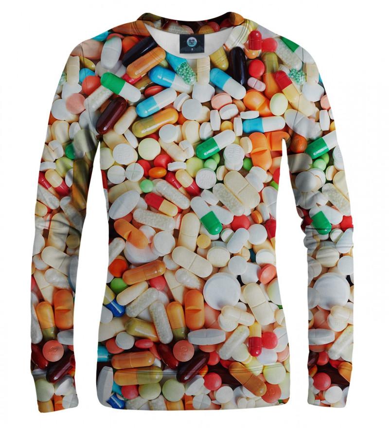 bluza z motywem tabletek