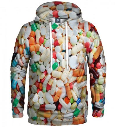 bluza z kapturem z motywem tabletek