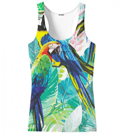 tank top with jungle and parrot