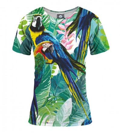 tshirt with jungle and parrot motive