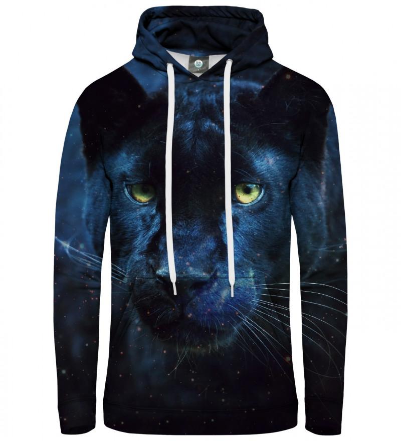 black hoodie with cougar motive