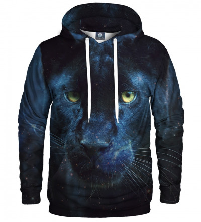 black hoodie with cougar motive