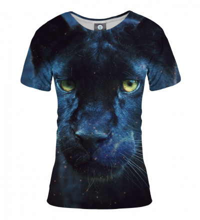 black tshirt with cougar motive