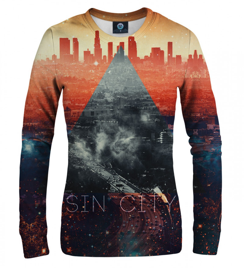 women sweatshirt with sin city motive