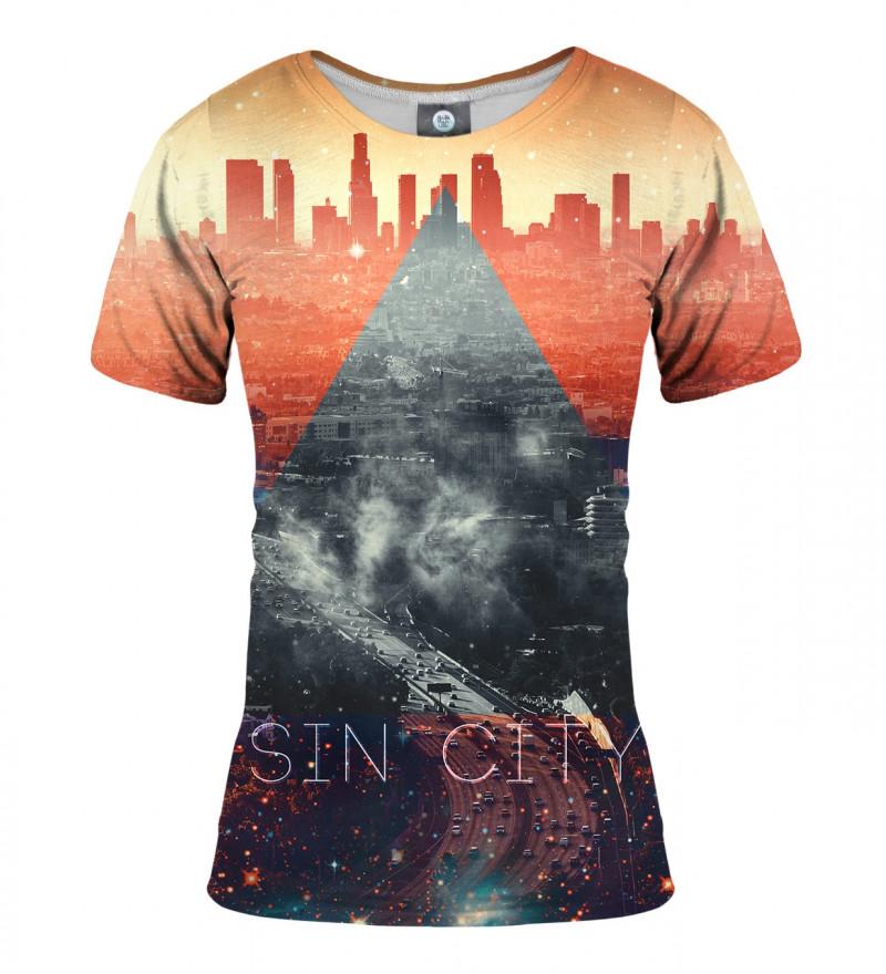 women tshirt with sin city motive