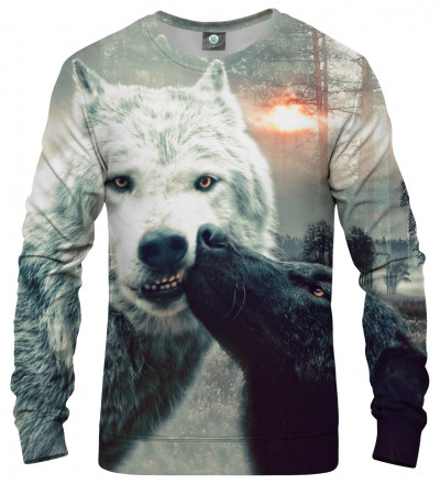 bluza z całującymi się wilkami