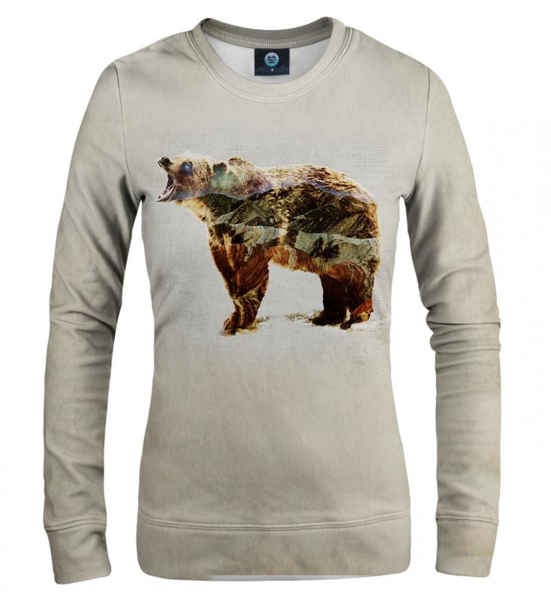 women sweatshirt with bear motive