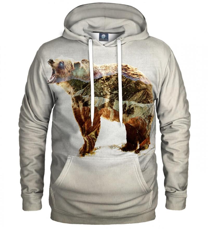 hoodie with bear motive